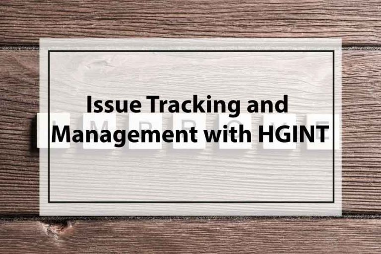 Issue Tracking and Management with HGINT